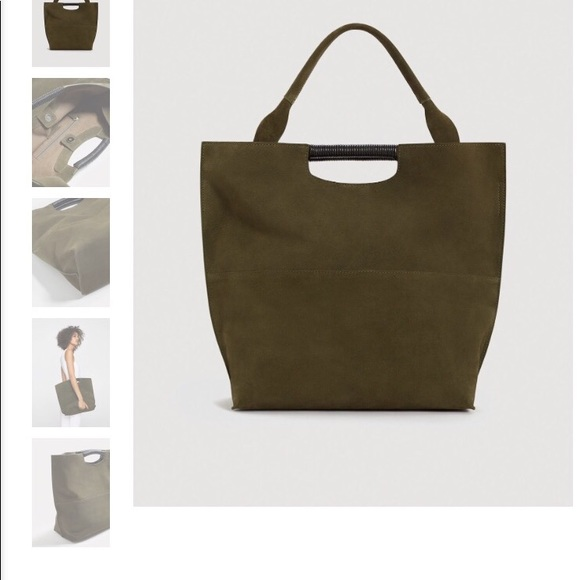 58d4497fe Mango Bags | Olive Suede Bucket Bag New With Tags | Poshmark